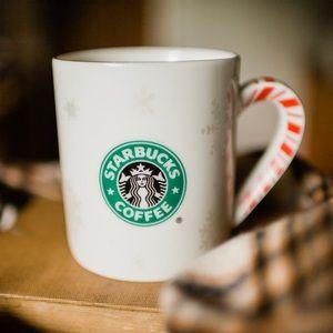 Starbucks Candy Cane & Snowflake Holiday Mug